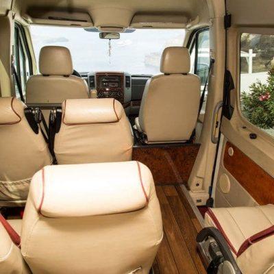 Santorini Private Transfers Services - Santorini Airport JTR Taxi - Van Minibus Ride - Santorini Transportation